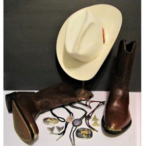 Men's Resistol WHITE Felt Cowboy Hat size 7